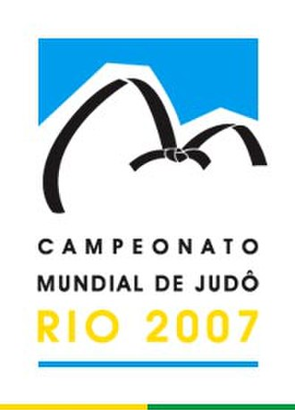 2007 World Judo Championships - The official logotype: Sugarloaf Mountain and Urca Mountain styled as a black belt.