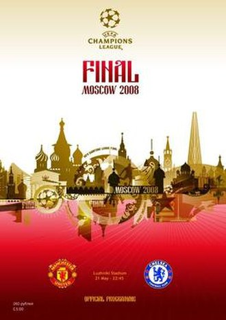 2008 UEFA Champions League Final - Match programme cover