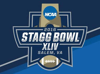 NCAA Division III Football Championship - 2016 Stagg Bowl logo