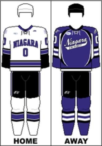 Niagara Purple Eagles men's ice hockey - Image: AHA Uniform NU