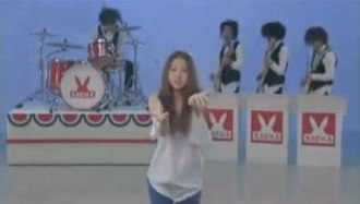 Lonely (Mao Abe song) - Abe in the music video.