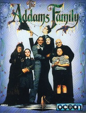 The Addams Family (video game) - Amiga box art