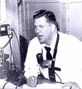 "Al Helfer - Helfer broadcasting the Mutual ""Game of the Day"" in the 1950s"