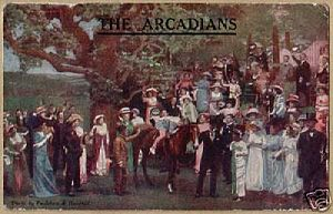 Arthur Wimperis - 1909 postcard: The Arcadians, with lyrics by Wimperis