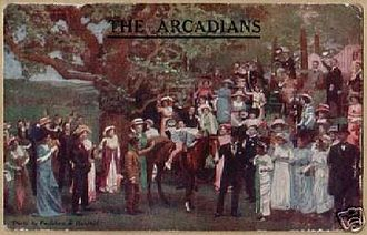 The Arcadians (musical) - Postcard advertising the original production