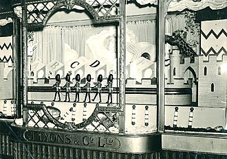 J. Lyons and Co. - A Corner House window display