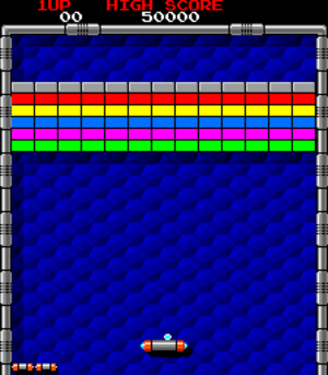 Arkanoid - Screenshot of Arkanoid (arcade version)