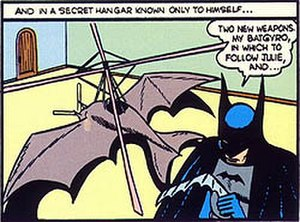 Batplane - The Bat-gyro as it appeared in Detective Comics No. 31 (September 1939)
