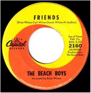 Friends (The Beach Boys song) - Image: Beach Boys Friends (single)