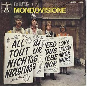 "All You Need Is Love - Image: Beatles ""All You Need Is Love"" 1967 Italian picture sleeve"