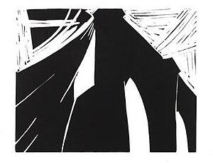 John Shaw (painter) - Brooklyn Bridge, 1983, linocut by John Shaw