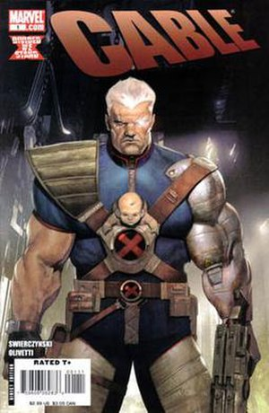 Cable (comic book) - Cover of Cable, vol. 2, 1 (May 2008). Art by Ariel Olivetti