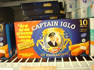 Captain Birdseye - Captain Iglo fishsticks box