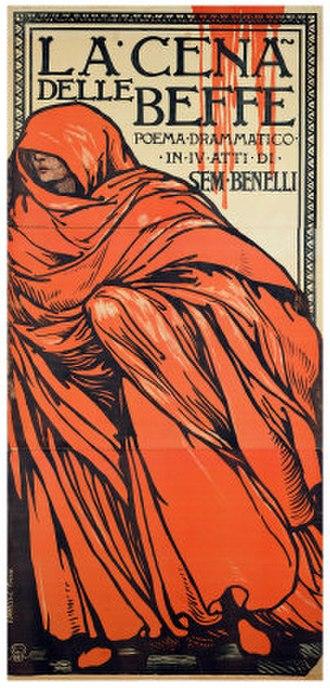La cena delle beffe - Image: Cena delle Beffe poster by Chini