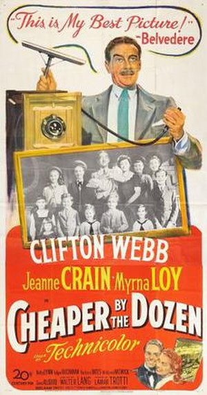 Cheaper by the Dozen (1950 film) - Theatrical release poster