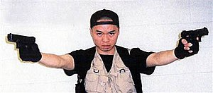 Virginia Tech shooting - One of the self-portraits Cho included with manifesto sent to NBC News