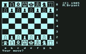 Colossus Chess - Colossus Chess 4.0 on Commodore 64