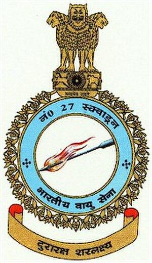 No. 27 Squadron IAF - Image: Crest of No. 27 Squadron IAF