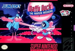 Daffy Duck: The Marvin Missions - Box art (Super NES)