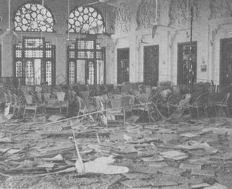 East Pakistan Air Operations, 1971 - Dacca Govt. House, seat of the East Pakistan Civilian administration, after a strike by Mig 21s of No. 28 Sqn on the morning of 14 December.