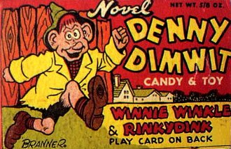 Winnie Winkle - Winnie Winkles Denny Dimwit has not been forgotten. In recent years, the character has been referenced several times in Bill Griffith's Zippy the Pinhead comic strip.