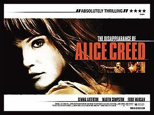 The Disappearance of Alice Creed - Theatrical release poster