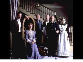 The Duchess of Duke Street - The main characters (from left to right): Charles Tyrrell, Louisa Trotter, Major Smith-Barton, Merriman, Starr, Mary.