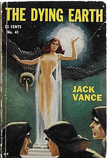 <i>The Dying Earth</i> collection of fantasy short fiction by American writer Jack Vance