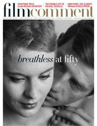 Film Comment - Cover of the May/June 2010 edition, celebrating the 50th year anniversary of Jean-Luc Godard's Breathless (1960)