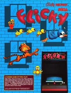 <i>Flicky</i> 1984 Sega arcade game