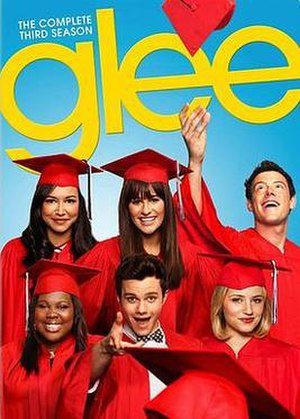 Glee (season 3) - Promotional poster and home media cover art
