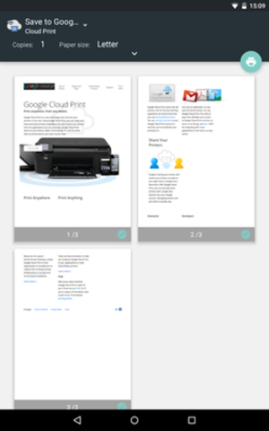 Google Cloud Print - Image: Google Cloud Print screenshot