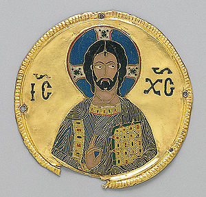 Christianity in the 11th century - Medallion of Christ from Constantinople, c. 1100.