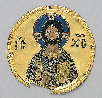 Christianity in the 12th century - Medallion of Christ from Constantinople, c. 1100.