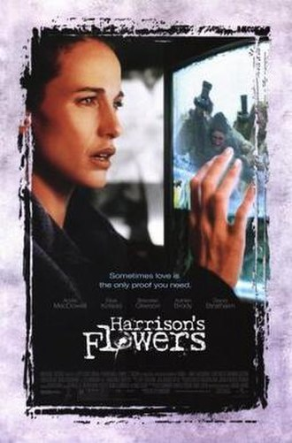 Harrison's Flowers - United States theatrical poster