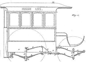 Peter Herdic - Detail of the patent application for the Herdic carriage