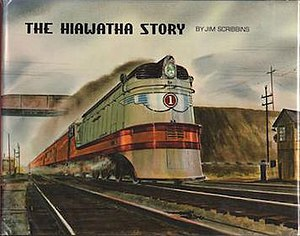 """The Hiawatha Story - The original 1970 cover, featuring the watercolor """"Roaring Through Rondout"""" by Gil Reid"""