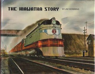 "The Hiawatha Story - The original 1970 cover, featuring the watercolor ""Roaring Through Rondout"" by Gil Reid"