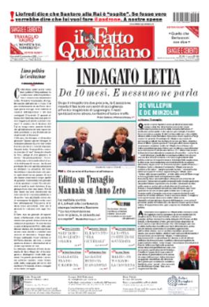Il Fatto Quotidiano - Image: Il Fatto 2009 09 23