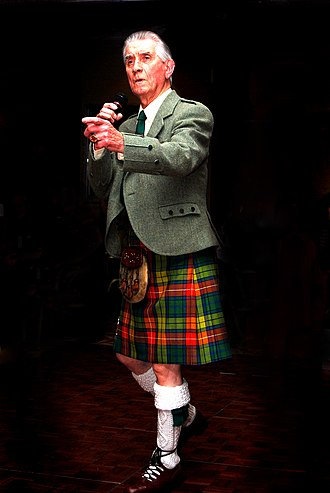 Johnny Beattie - Johnny Beattie performing at a charity Ceilidh in Glasgow in 2009.