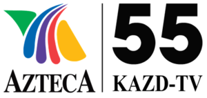 "KAZD - ""KAZD Azteca 55"" logo used from December 2010 to July 2011."