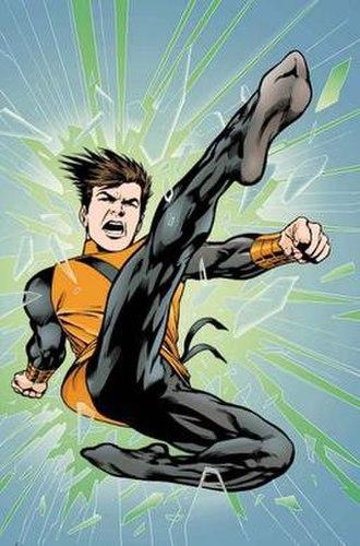 Karate Kid (comics) - Post-Zero Hour Karate Kid. Art by Alan Davis.