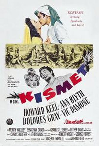 Kismet (1955 film) - Theatrical release poster
