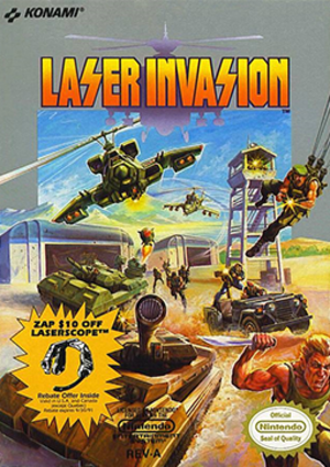 Laser Invasion - North American cover art