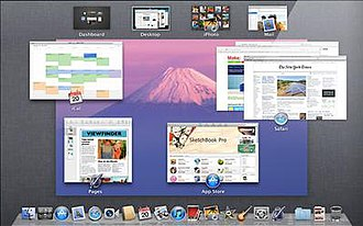 Mission Control (macOS) - Image: Mac OS X Lion Preview Mission Control