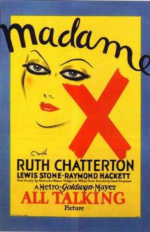 Madame X (1929 film) - Film poster