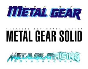 Metal Gear - Various logos from games within the series