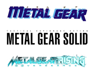 Metal Gear - Three logos from games in the series