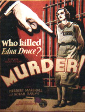 Murder! (1930 film) - Theatrical release poster