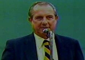"Ned Martin - Ned Martin on ""Yaz Day"" at Fenway Park, October 1, 1983."